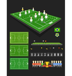 Soccer match infographic elements vector image