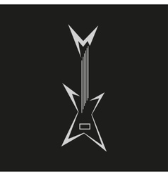 Electric guitar logo vector image