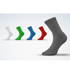 Realistic layout of socks a simple example vector