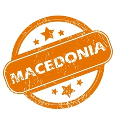 Macedonia grunge icon vector