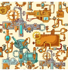 Industrial machines seamless vector