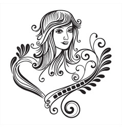 female scroll vector image