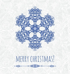 Decorative snowflake design template vector