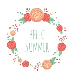 Cute floral summer frame vector
