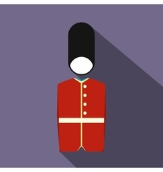 A royal guard icon flat style vector