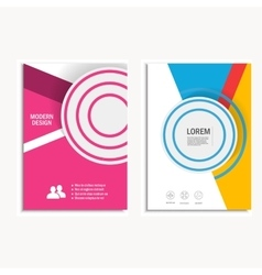 Cover brochure template layout design annual vector