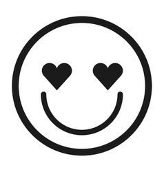 Lovely face emoticon isolated icon design vector