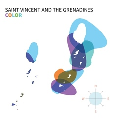 Abstract color map of Saint Vincent and the vector image