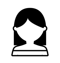 Avatar woman lady model outline vector
