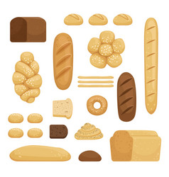 bakery products of different vector image vector image
