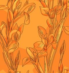 Blue irises vector image vector image