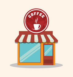 Coffee shop store market restaurant vector