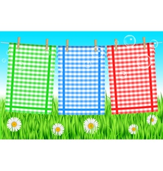 colorful towels background vector image vector image