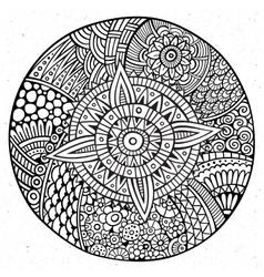decorative hand drawn circle vector image