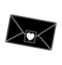 Envelope with heart post stamp vector