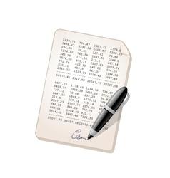 Financial report vector