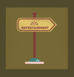 Flat shading style icon sign entertainment vector