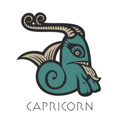 Image of capricorn astrological sign of zodiac vector