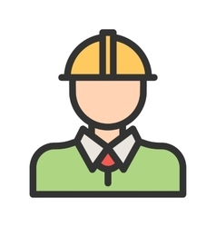 Industry worker i vector