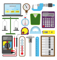 measuring mechanism tools and electronic vector image vector image