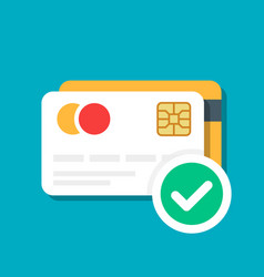 Plastic debit or credit card with a payment vector
