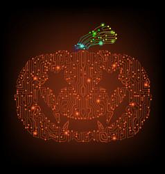 Pumpkin orange circuit vector