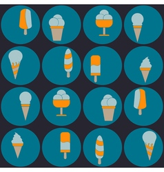 Seamless background with ice cream vector
