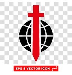 Sword globe eps icon vector