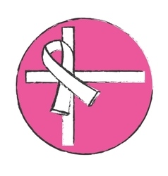 Symbol breast cancer prevention image vector