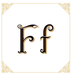 vintage font letter and monogram in the vector image