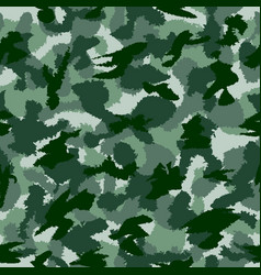 War green forest camouflage seamless pattern can vector