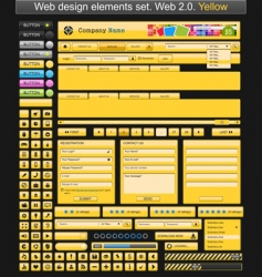 web design elements yellow vector image vector image