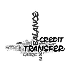 Wipe out debt with balance transfer credit cards vector