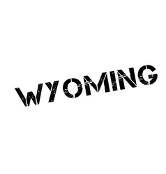 Wyoming rubber stamp vector image