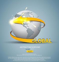 globe concept 3 vector image