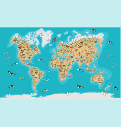 World map highly detailed vector