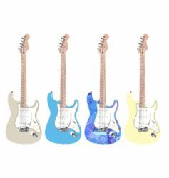 rock star guitar vector image