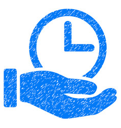 Time service grunge icon vector