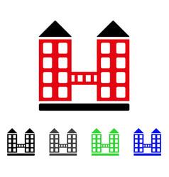 company building flat icon vector image