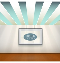 Poster template with frame easy to edit vector