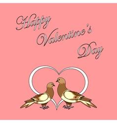 Design Valentines day background vector image