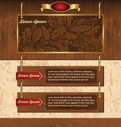 Wooden background for website vector