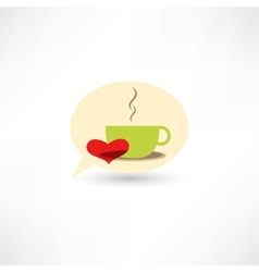 Love hot coffee vector image