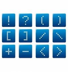matrix symbol square icons  vector image