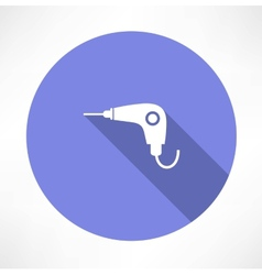 Drill icon vector image