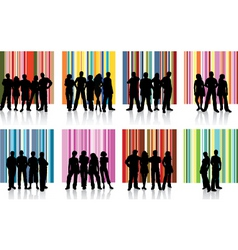 Groups of people vector