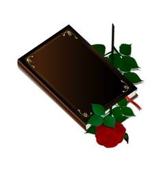 Book and rose vector