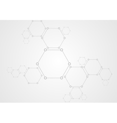 Molecular structure abstract tech background vector