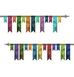 Colored silk flags vector