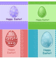 Set of easter greetings card vector